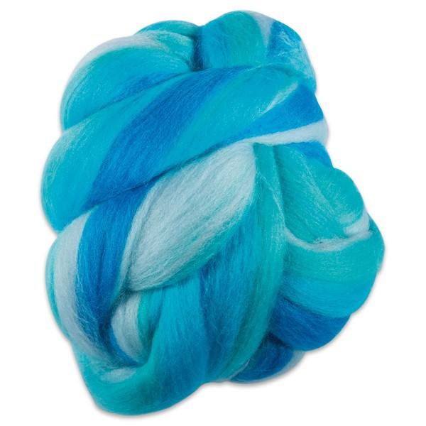 Multicolor-Merinowolle fein 100g türkis 100% Wolle, ca. 21mic