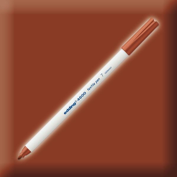edding 4600 Textilstift braun Strichbreite 1mm