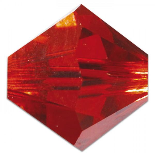 Glasschliffperlen 6mm 12 St. siam Swarovski, Lochgr. ca. 0,9mm
