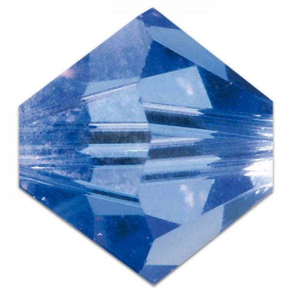Glasschliffperlen 8mm 5 St. safir Swarovski, Lochgr. ca. 1mm
