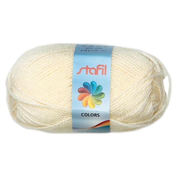 Wolle Colors 50g sahne LL ca.133m, Nadel Nr. 3, 100% Polyacryl