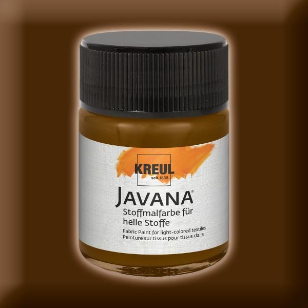Javana Stoffmalfarbe helle Stoffe 50ml dunkelbraun