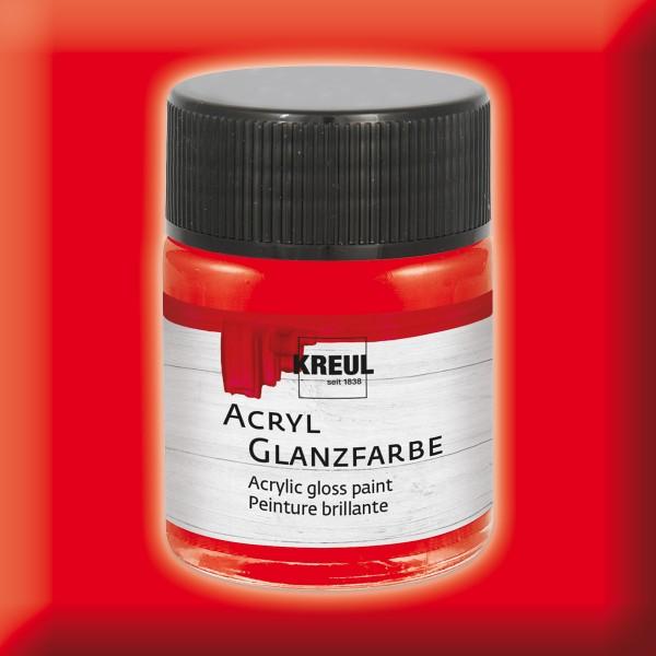Acryl-Glanzfarbe 50ml rot