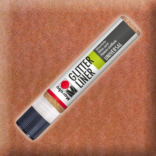 Marabu Glitter Liner 25ml rotgold universelle Effektfarbe