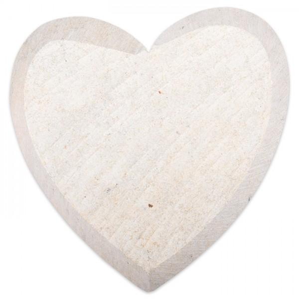 Speckstein-Rohling ca. 10cm Herz ohne Bohrung