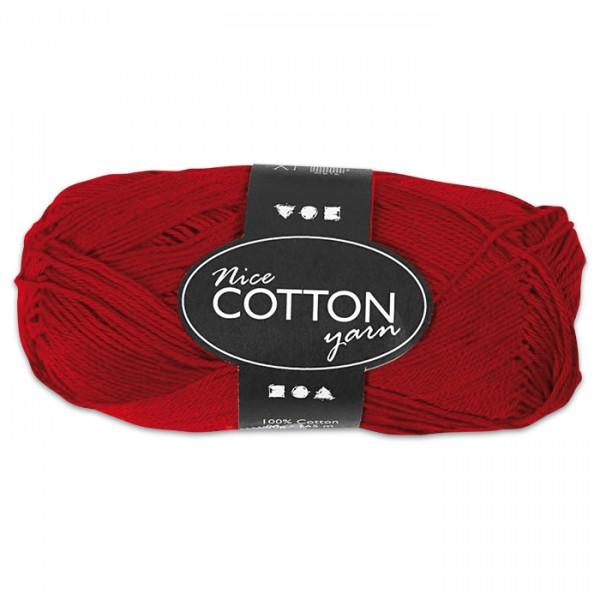 Baumwollgarn 50g rot 100% Baumwolle, für Nadel Nr. 3-3,5