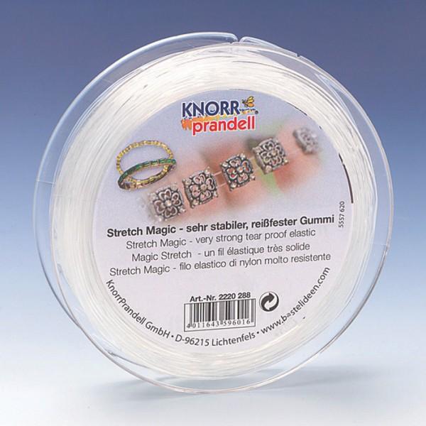 Stretch Magic 0,7mm 25m transparent sehr elastischer & reißfester Gummi