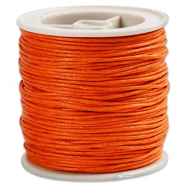 Baumwollband gewachst 1mm 40m orange 100% Baumwolle