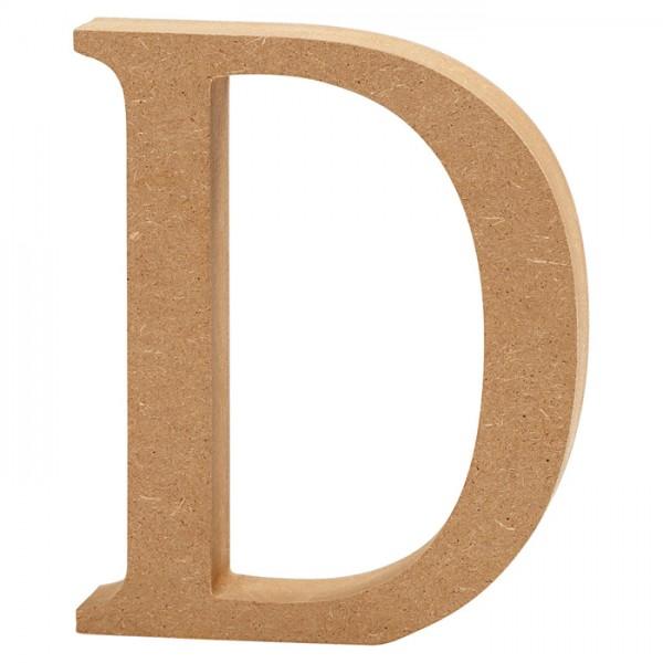 Buchstabe D MDF ca. 80x130x20mm