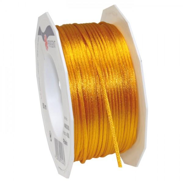 Satinschnur 2mm 50m gelb 100% Polyester