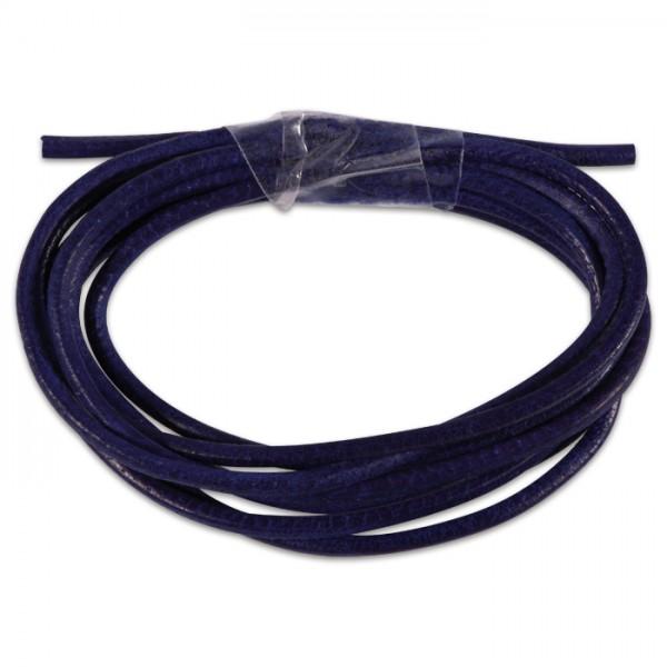 Ziegenlederriemchen rund 1,5mm 1m violett
