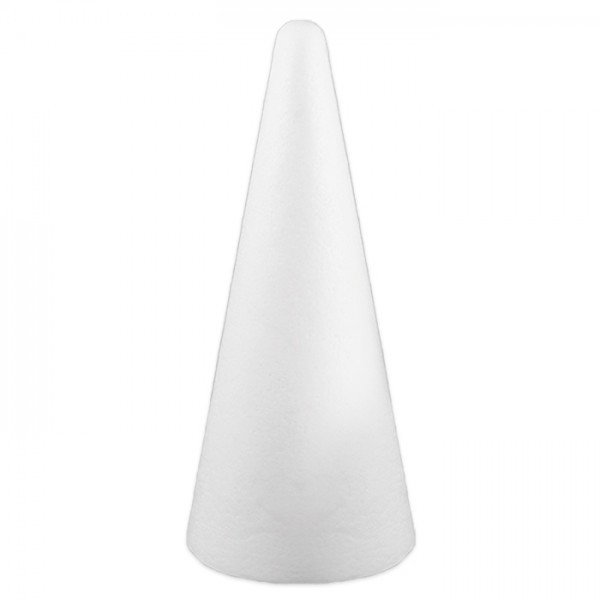 Styropor-Kegel weiß ca. 12cm