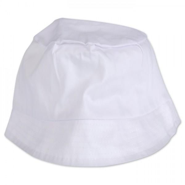 Sonnenhut 58cm weiß 100% Baumwolle