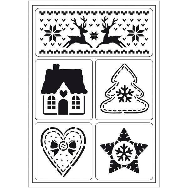 flexible Schablone DIN A5 skandinavische Weihnachten selbsthaftend
