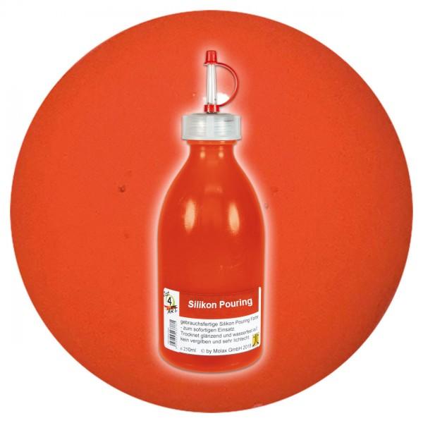 Just4Art Silikon Pouring Farbe 250ml orange mit Spritzdüse