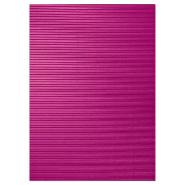 Bastelwellpappe 260g/m² 50x70cm 10 Bl. pink