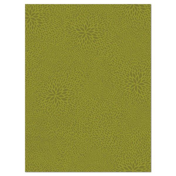 Decoupagepapier gemustert olivgrün von Décopatch, 30x40cm, 20g/m²