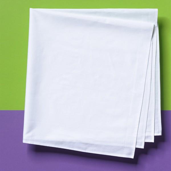 Tischdecke 55x55cm gebleicht 100% Baumwolle