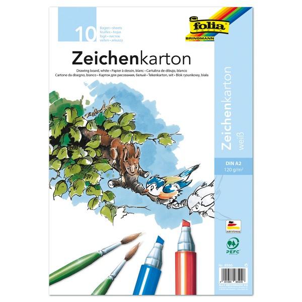 Zeichenkarton 120g/m² DIN A2 10 Bl. weiß