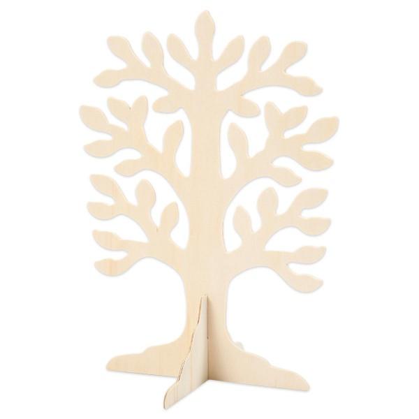 Baum freistehend Holz 30x21,5x0,2cm natur