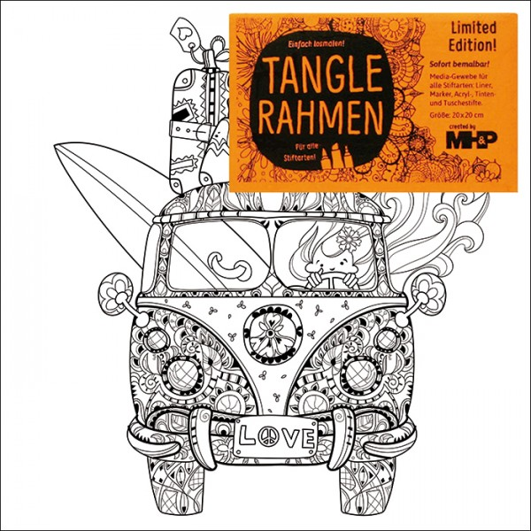 Tangle-Keilrahmen 20x20x2cm Strandbus