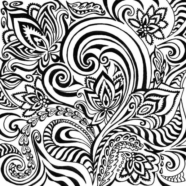 Texturmatte Gummi 9x9cm Floral