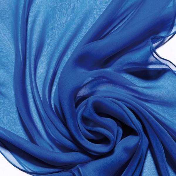 Schal Chiffon 3,5 55x180cm brillantblau 100% Seide
