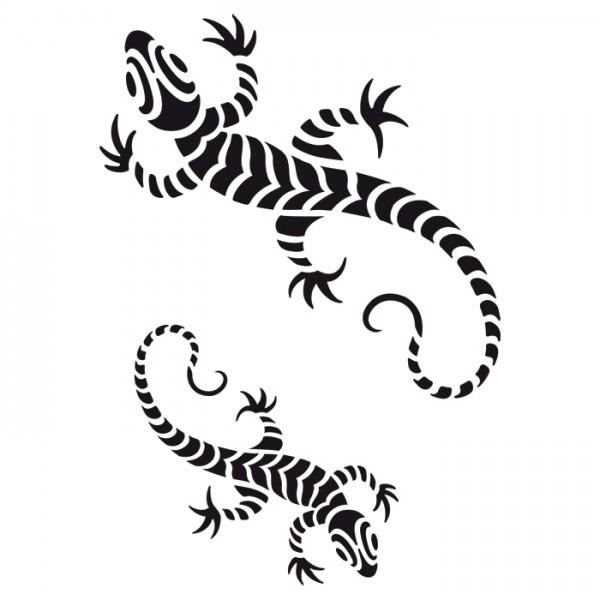 Universal-Schablone DIN A4 Gecko Kunststoff