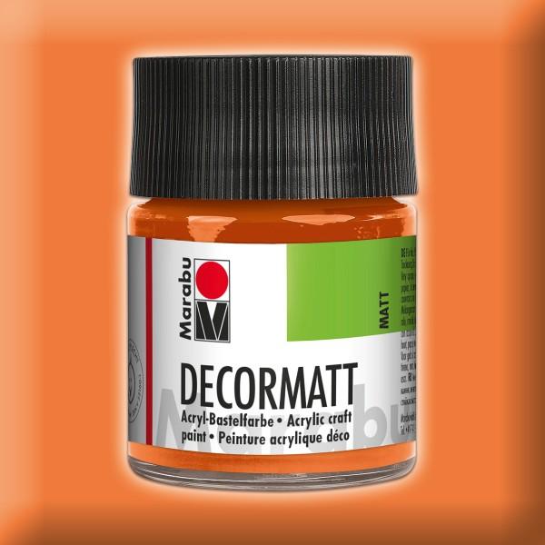 Decorlack Acryl matt 50ml orange