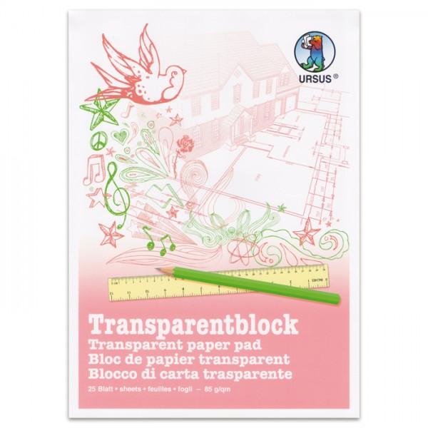 Transparentblock 85g/m² DIN A3 25 Bl. weiß