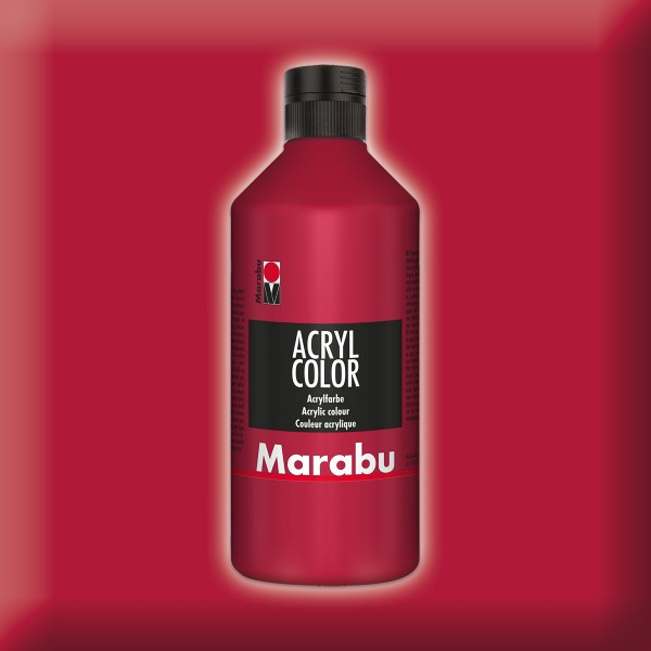 Marabu Acryl Color 500ml karminrot