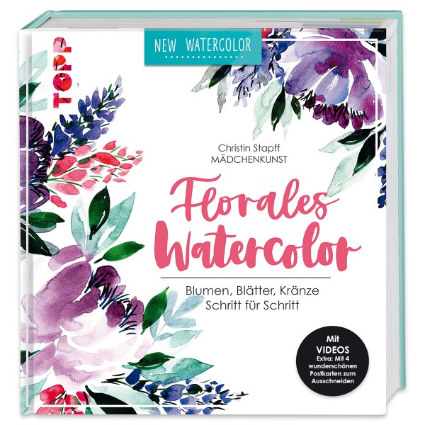 Buch - Florales Watercolor 144 Seiten, 22,2x23,5cm, Hardcover