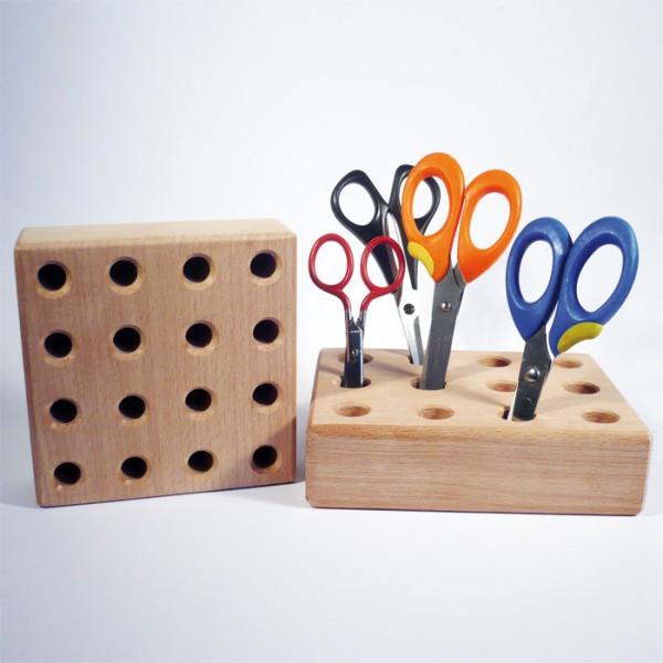 Scherenständer Holz 145x115x40mm für 12 Scheren