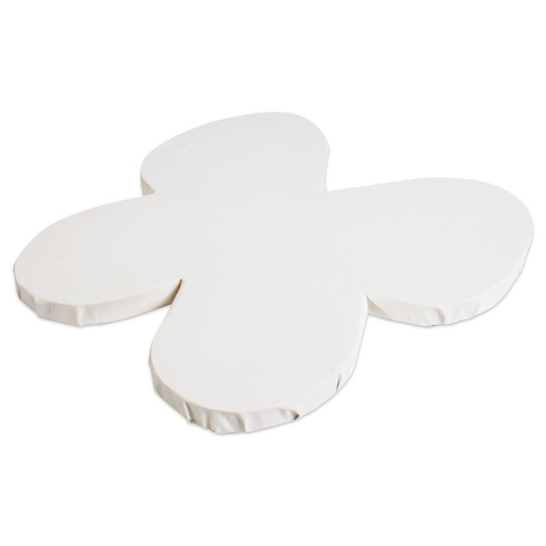 Keilrahmen ca. 19,4x19,4x1,6cm 12er-Set Schmetterling 100% Leinen