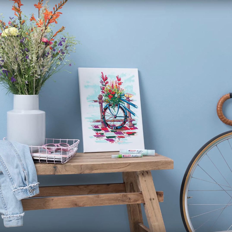 """Video """"Wie man ein Fahrrad mit edding permanent Acrylic malt"""""""