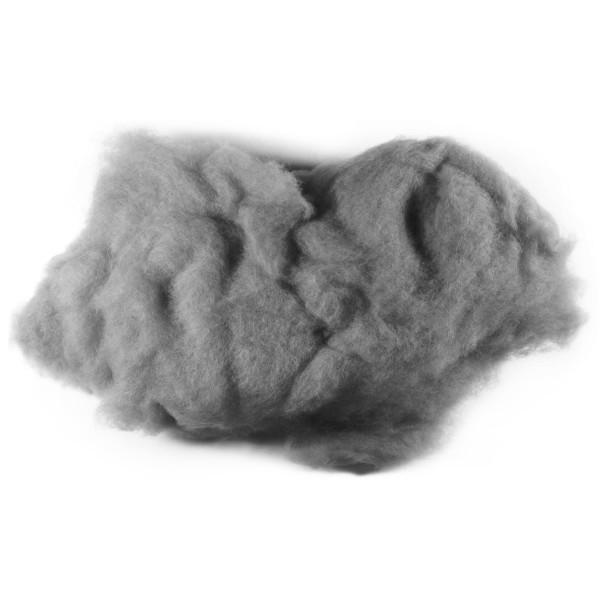 Krempelwolle max. 27mic 500g grau 100% Wolle von neuseeländischen Schafen