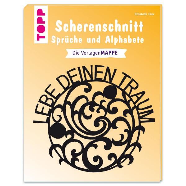 Buch - Scherenschnitt - Sprüche und Alphabete 16 Seiten, 16,8x22,1cm, Softcover