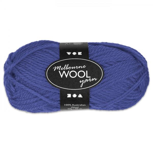 Garn Melbourne Filzwolle 50g blau 100% Wolle, LL 92m, Nadel Nr. 4