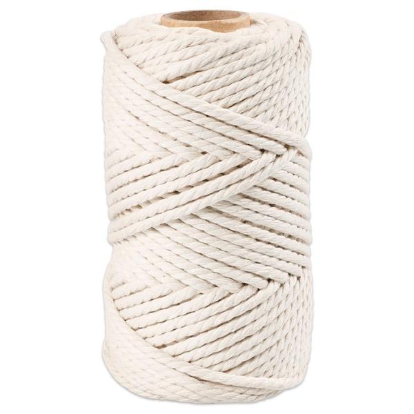 Makrameegarn Ø4mm 330g naturweiß 80% recycelter Baumwolle, 20% Polyester, LL 55m