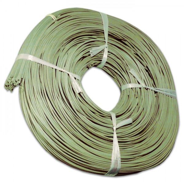 Peddigrohr 3mm 500g gebündelt grün