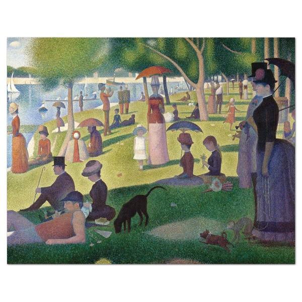 Malen auf Keilrahmen Sonntagnachmittag auf La Grande Jatte Georges Seurat, ca. 27,9x35,5x1,9cm