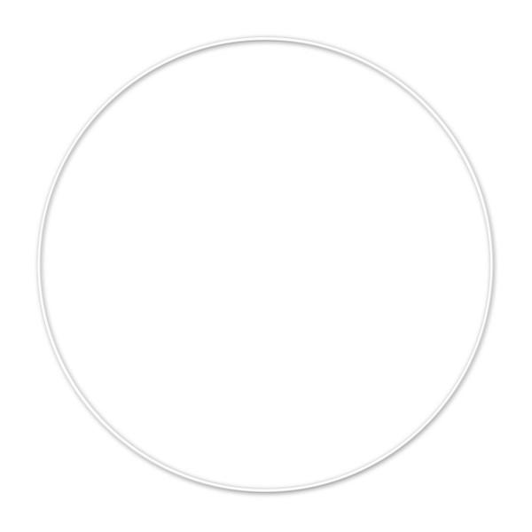 Metallring/Drahtring rund weiß 3mm Ø 30cm