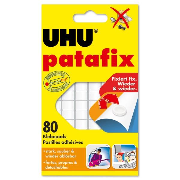 UHU Tac patafix Klebepads 80 St. weiß 5x5mm, 3mm stark