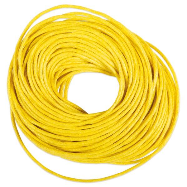 Kordel gewachst 1mm 10m gelb 50% Baumwolle, 50% Polyester