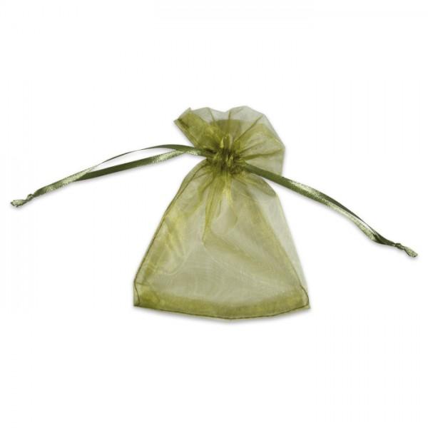 Organza-Säckchen 10x13cm oliv Polyester