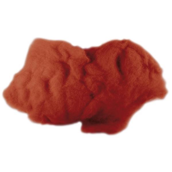 Krempelwolle max. 27mic 500g cognac 100% Wolle von neuseeländischen Schafen