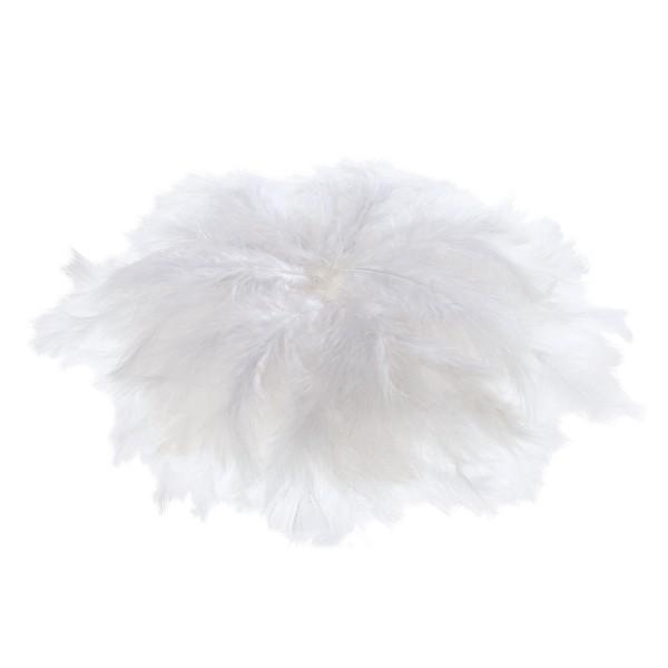Flauschfedern ca. 8-15cm 100g weiß