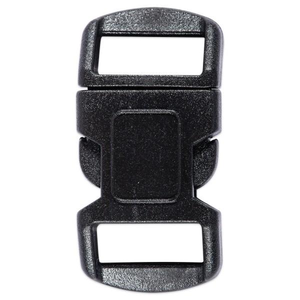 Steckverschluss Kunststoff 15x30mm schwarz