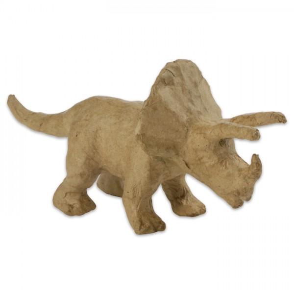 Triceratops horridus Pappmaché 19x6x9cm Größe XS, von Décopatch