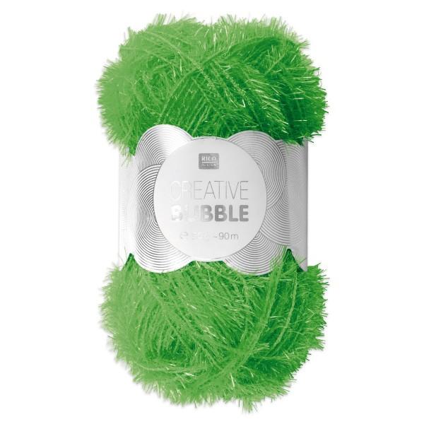 Creative Bubble Wolle 50g ca. 90m neongrün Nadel Stricken Nr. 2, Häkeln Nr. 4, 100% Polyester
